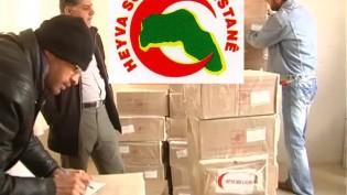 Heyva Sor'dan Şengallilere 250 ton yardım!