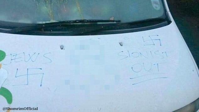 Anti-Semitic graffiti attacks continue as vehicles targeted