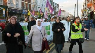 Londra'da Yaşayan Kürdistanlılar Öcalan'ın Özgürlüğü İçin Yürüdü