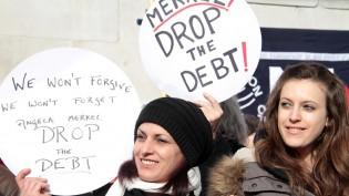 Trafalgar Meydanında Yüzlerce Kişi Syriza için bir araya geldi