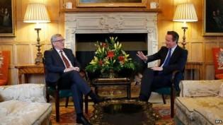 Cameron Avrupa Komisyonu Başkanı İle Görüştü