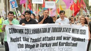 Londra merkezde AKP'nin Savaş Politikaları Protesto Edildi