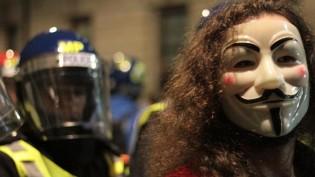 Londra Merkezde Binlerce Fawkes (FOTO GALERI)