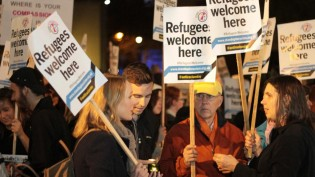 'Refugees MORE THAN welcome here'