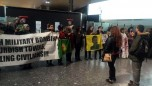 Heatrow Havalimanında Türk Devleti Protestosu