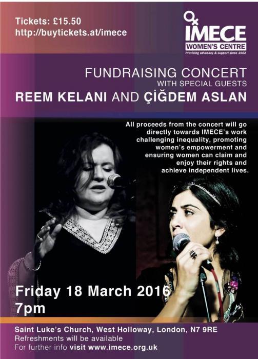 Çiğdem Aslan ve Reem Kelani İmece Kadın Merkezi İçin Sahne Alacaklar