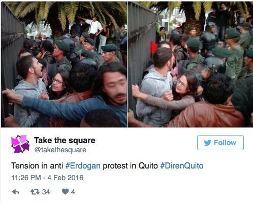 Erdoğan Ekvator'da da İş Başında: Korumaları Milletvekilliyi Darp Etti 5