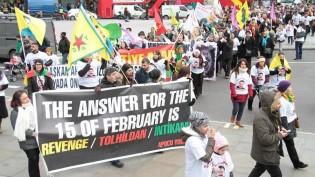 Londra`da Öcalan'a Özgürlük Yürüyüşü (VİDEO+FOTO GALERİ)