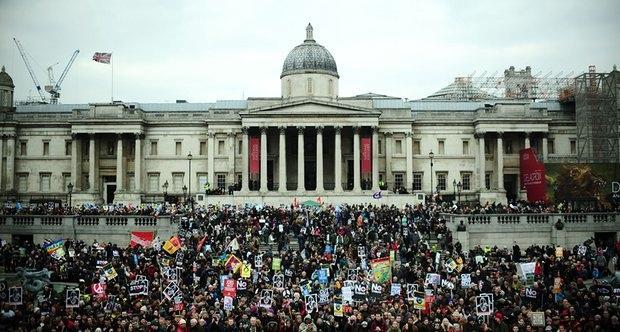 Londra'da Şimdiye Kadarki En Büyük Nükleer Silah Karşıtı Eylem 4