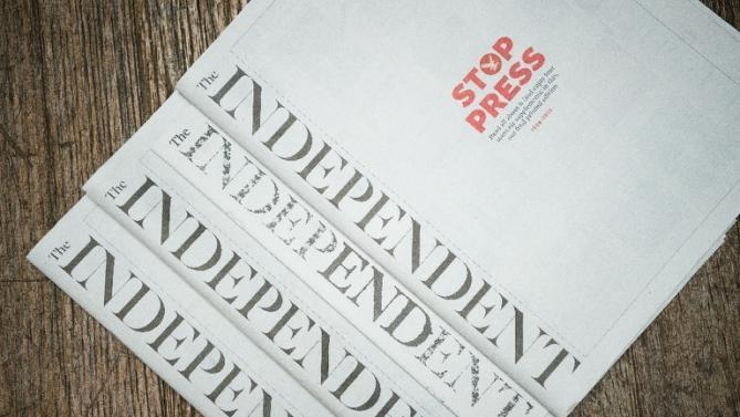 30 Yıllık The Independent Gazetesi Bugün Son Kez Basıldı