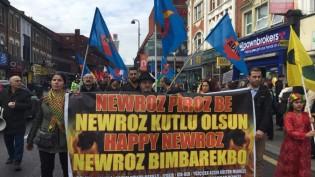 Londra'da Newroz Yürüyüşü (Video Haber)