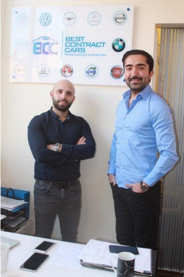 Best Contract Cars yöneticileri Cemal Polat ve Ali Kalkan