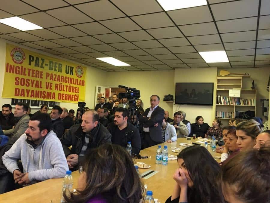 Maraş'ta kurulan Mülteci kampına karşı Londra'da Basın Açıklaması 3
