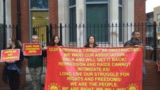 Londra'da Kurulan Direniş Çadırına Polis Baskını:7 Gözaltı