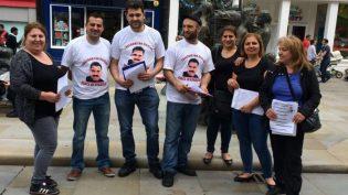 Öcalan'a Özgürlük Eylemine Bir Destek te Galler'den