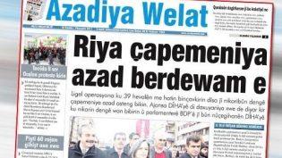 Azadiya Welat Gazetesi Baskınında 27 Kişi Gözaltına Alındı