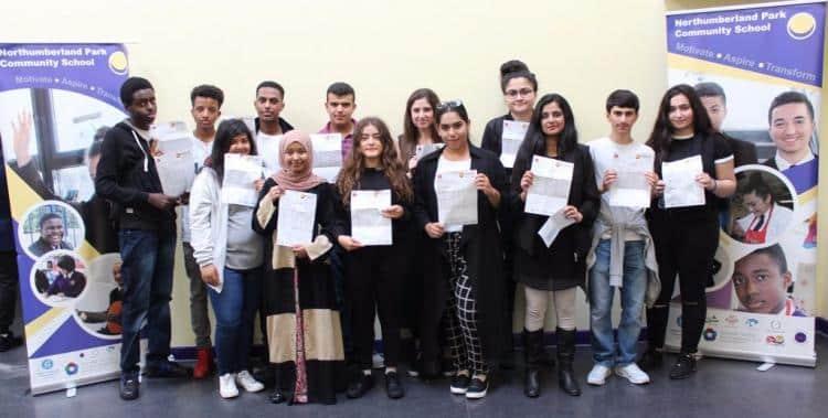Northumberland okulunun başarılı gençleri