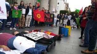 İrlandalı Emekçiler Rojava İçin Eylemdeydi