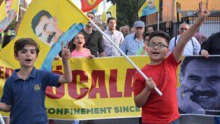 Londra ve Nottingham'da ''Öcalan'a Özgürlük, Efrin'i Sahiplen'' Yürüyüşleri