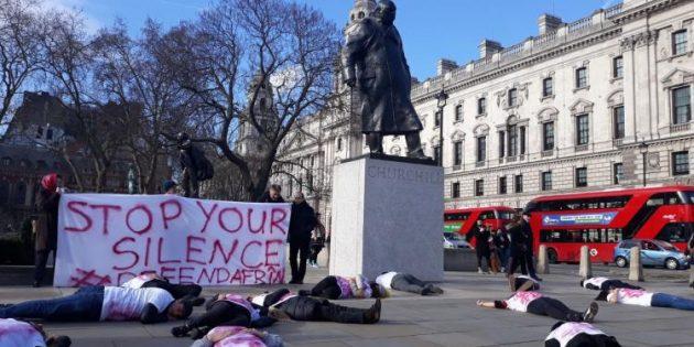 Birleşik Krallık'ın Her Köşesinde Efrin Eylemleri
