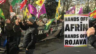 Londra'da 'Afrin Erdoğan'a Mezar Olacak' Sloganları