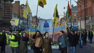Londra'da 15 Şubat Komplosu Yüzlerce Kişi Tarafında Protesto Edildi