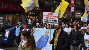 Londra'da açlık grevleri ile dayanışma yürüyüşü