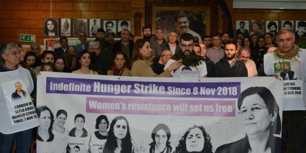Londra'da Süresiz ve Dönüşümsüz Açlık Grevi Başladı
