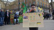 Londra'da açlık grevleri ile dayanışma eylemi