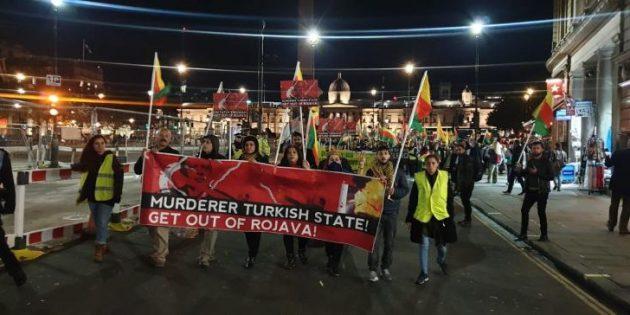 Londra'da 'işgal'e karşı protestolar sürüyor