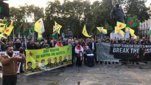 Londra'da Rojava'ya 'işgal girişimi' protesto edildi