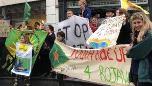 Brighton'da 'işgal dursun Erdoğan yargılansın' eylemi