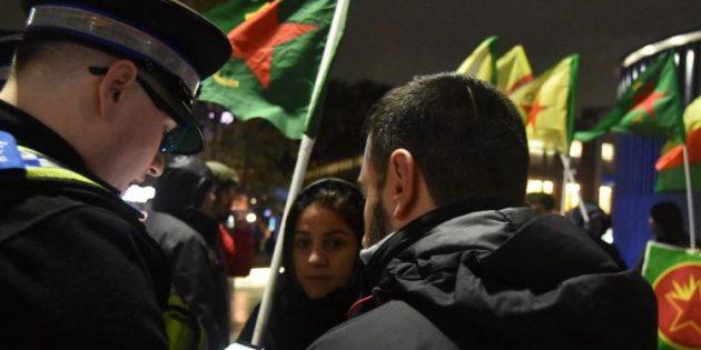 Brighton, Manchester ve Londra'da 'Rojava' eylemleri