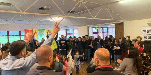 Galler'de Rojava ile Dayanışma Gecesi düzenlendi