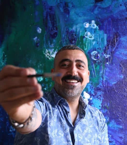 Ressam Kirkan Kürdili eserleri  ile ABD'de