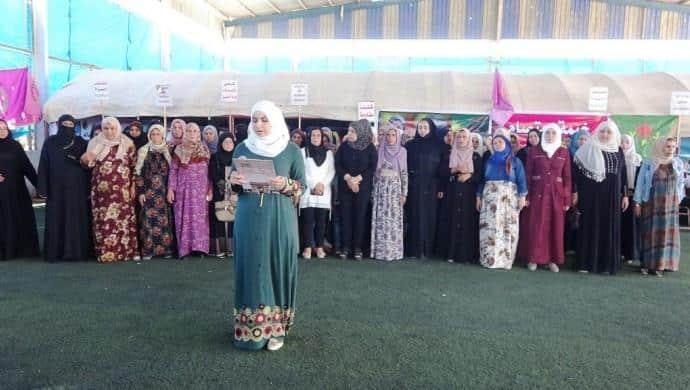 Rakka'da kadınlardan çadır eylemi