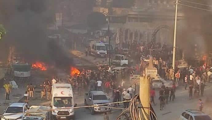 Efrin kent merkezinde patlama