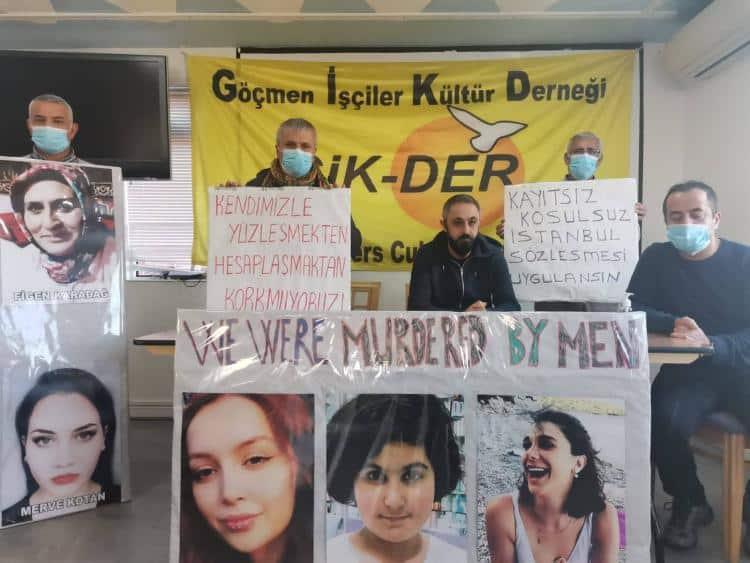 """GİK – DER'li Sosyalist Erkekler : """"Kadına yönelik şiddetin bütün biçimine karşı isyandayız"""""""