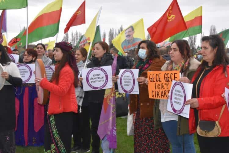 Londa Kadın Platformu İstanbul Sözleşmesi'nin feshedilmesini tanımıyoruz (2)