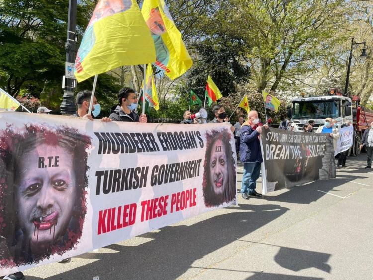 İşgal saldırıları Londra'da da protesto edildi