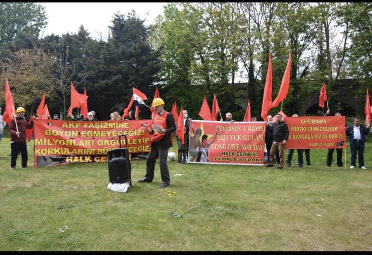 İngiltere Halk Cephesi 1 Mayıs'ta Alanlardaydı