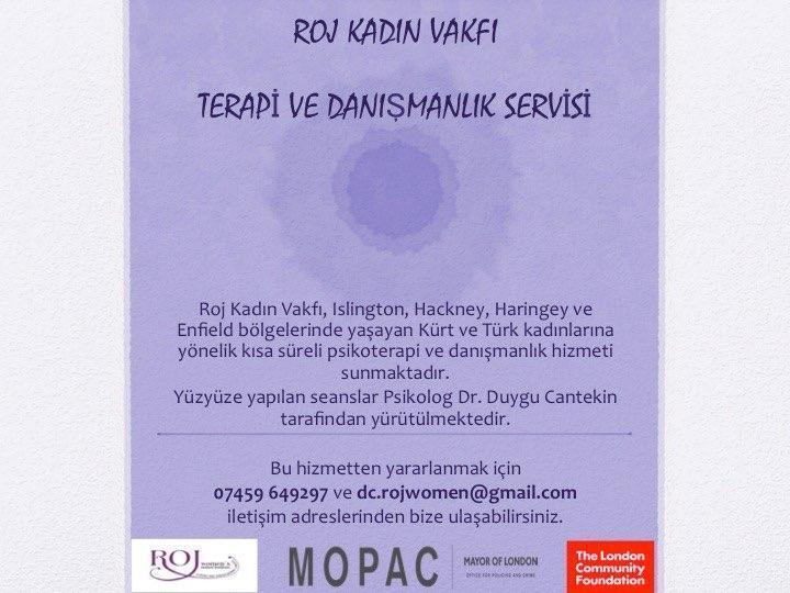Roj Kadın Vakfı'ndan ücretsiz 'psikoterapi' hizmeti